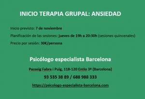 Terapia de grupo Barcelona